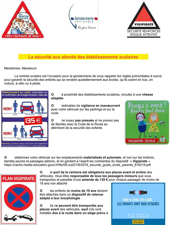 La securite aux abords des etablissements scolaires 1